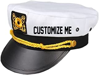personalized captains hat