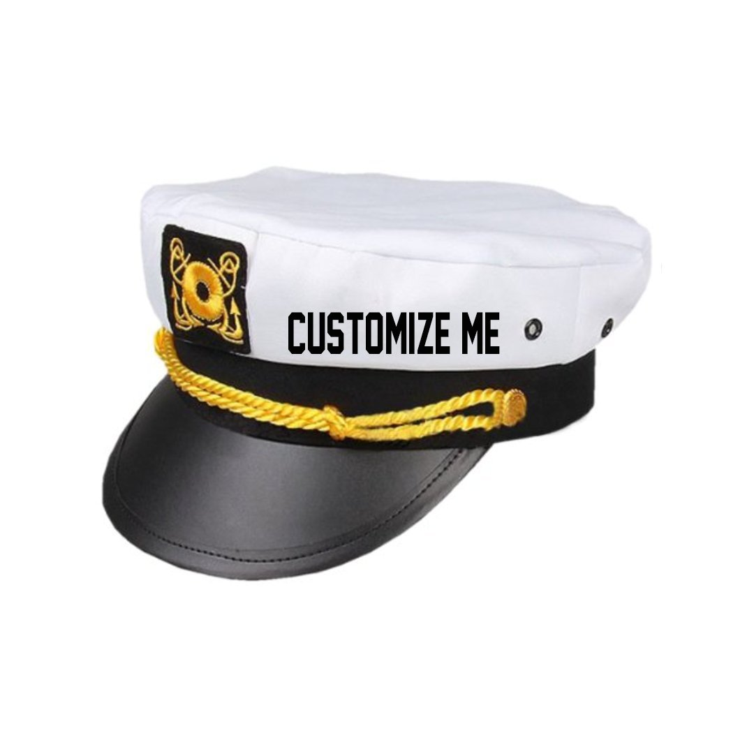 Adjustable Yacht Captain Skipper Sailer Boat Cap Hat Funny Party Costume New