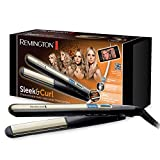 Remington Fer à Lisser, Fer à Boucler, Lisseur, Boucleur, Plaques XL Advanced Ceramic - S6500 Sleek and Curl