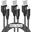 3-Pack Bkayp 10ft Mfi Certified Lightning Cable