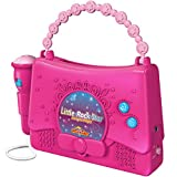 Little Pretender Karaoke Machine with Microphone | Portable Karaoke Set for Girls and iPod Holder| Pink Kids Singing Machine | Music Player with 10 Programmed Songs | AUX Connection