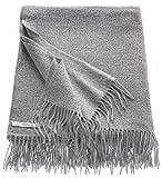 ESPRIT Melange Sofadecke grau • kuschelige Tagesdecke 150 x 200 • sehr weiche Wohndecke • Leicht zu pflegene Couchdecke • in Deutschland produziert