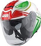 GIVI X.22 Planet Hyper Casco a getto Bianco/Verde/Rosso XL (61)