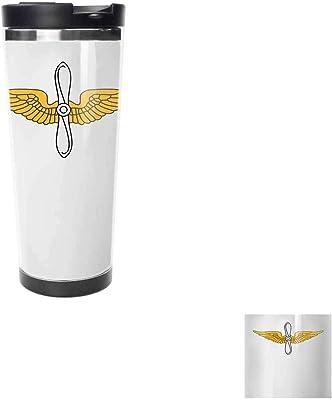 米国陸軍航空、旅行コーヒーカップ、ダブル絶縁、ホット、旅行のホームオフィス学校仕事ホットドリンク冷たい飲み物、家族旅行カップ,サーモスカップ.511ML