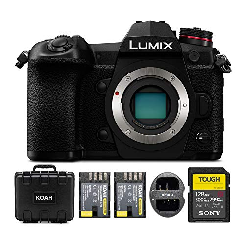 Panasonic LUMIX G9 Mirrorless Camera Body, 20.3 Megapixels Plus 80 Megapixel High-Resolution Mode, 5-Axis Dual
