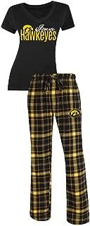 Iowa Hawkeyes NCAA Women's Shirt and Pajama Pants Sleep Set