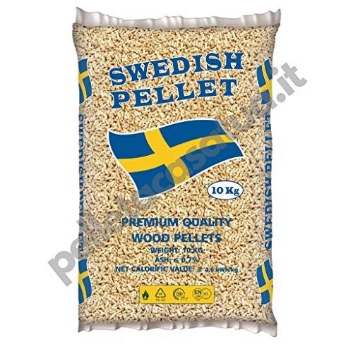 PELLET SWEDISH 100% ABETE - ENPLUS A1 - ALTO POTERE CALORIFICO (30 SACCHI DA 10 KG)