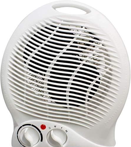 elektrischer Heizlüfter | 2000 Watt Power | Heizgerät | Mini Heizung Wohnräume Küche Badezimmer Büro Schlafzimmer | Überhitzungsschutz | Camping | mobile Heizung