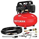 Product Image of the Craftsman Air Compressor, 6 Gallon, Pancake, Oil-Free with 13 Piece Accessory Kit (CMEC6150K)