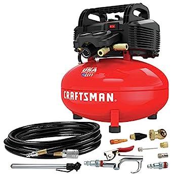 CRAFTSMAN Air Compressor 6 Gallon Pancake Oil-Free with 13 Piece Accessory Kit  CMEC6150K