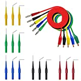20pcs Automotive Back Probe Lead Set - 15pcs Back Probe Pins & 5pcs Banana Plug to Alligator Clip Circuit Test Wires