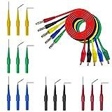 Juego de 20 piezas de cables de sonda de coche – 15 piezas de clavijas de sonda trasera y 5 piezas de conector de plátano a cables de prueba de circuito de pinza de cocodrilo