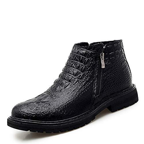 ZRH Zapatos Hombre Invierno Chelsea Boot for Men Tobillo Boot Tull En Cuero Genuino Redondo Personal Redondo Cremallera Casual Classic Classic Genuine Cuero Croc Botas Hombre Impermeables