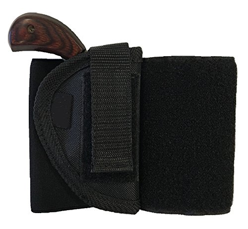 Bama Belts and Leathers Ankle Holster fits NAA 5 Shot Revolver .22 Mag Black Nylon Concealment Gun Slinger Holster