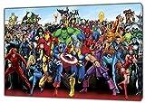 Imagen de personajes de superhéroes de Marvel en lienzo enmarcado para decoración del hogar, Lienzo de tela., 16'' x 12'' inch( 40x 30 cm ) -38mm depth