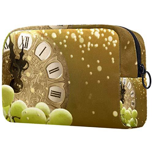 Bolsa de maquillaje personalizable, portátil, para mujer, bolso de mano, organizador de viaje, para Nochevieja