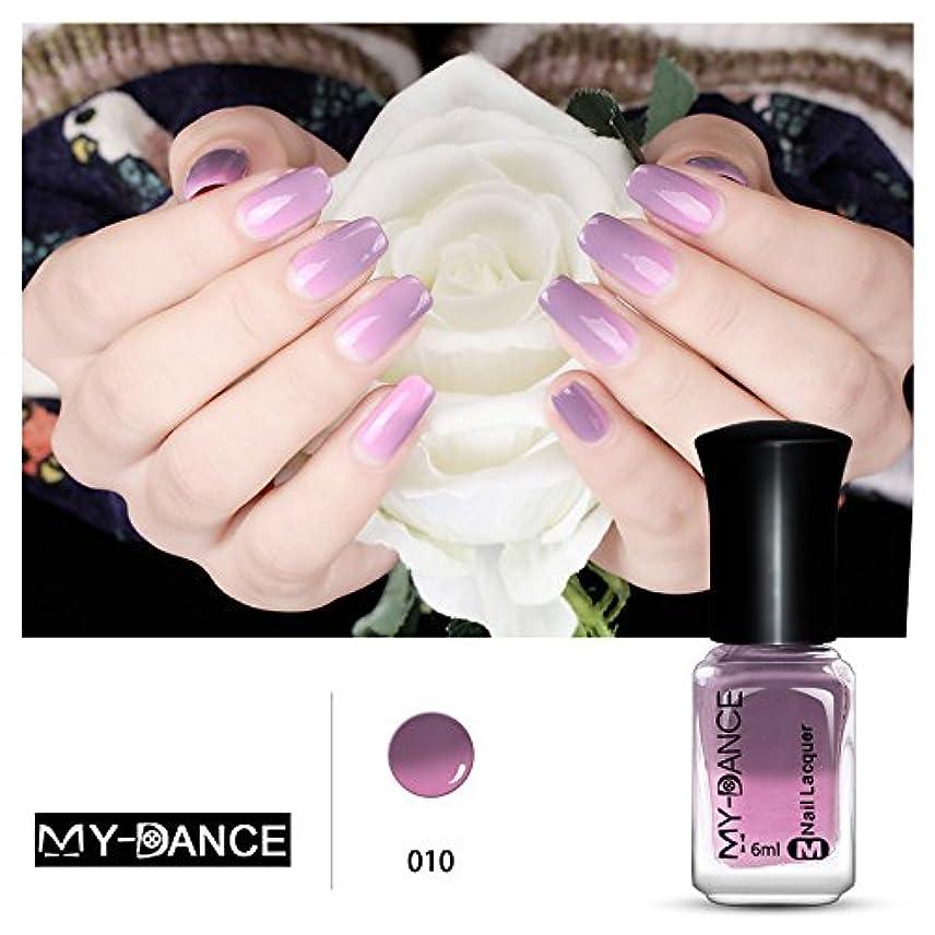 裂け目誤解させる抑圧者1ボトル 紫変色グリッター マニキュアピールオフ温度によって色が変わるポリッシュ 変色 ネイルアート 6ml