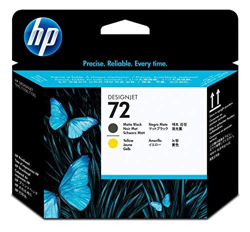 HP 72 C9384A Cabezal de Impresión HP DesignJet Negro Mate y Amarillo, para Impresoras Plotter de Gran Formato T2300 eMFP, T1300, T1200, T1120, T1100, T1100 MFP, T795, T790, T770, T620, T610 y T600
