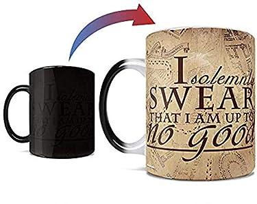 Harry Potter - Hogwarts Magical Marauder's Map - Parchment Paper Reveal - 11 oz Morphing Mugs Heat Sensitive Mug – Ceramic Color Changing Coffee Tea Mug