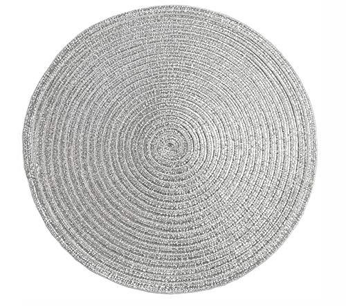 SHIM Tessitura tavola Rotonda tappetini cucine Calore Freno Resistente Sistema antibloccaggio Tabella Mat dal Momento Che Una Foto 30 cm