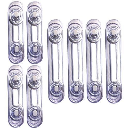 [8 Unidades] Cerraduras Transparentes De Seguridad Para Bebes, Bloqueo Con Adhesivo 3M, Cierres Para Armarios, Cajones, WC, Cocinas, Puertas, Ventanas, Neveras [Pestillos Transparentes]
