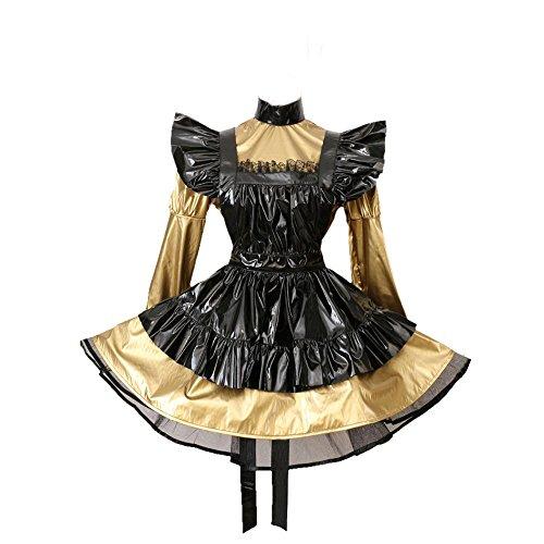 GOceBaby Sissi Abschließbar Dienstmädchen Brozen PVC Kleid Uniform Kostüm (XXXL)