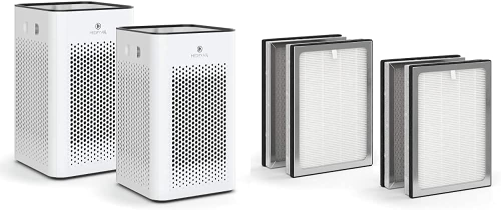 Safety and trust Medify Max 74% OFF MA-25 Air Purifier with two additional repl True H13 HEPA