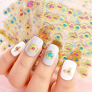 24pcs/lot 3D Design Nail Foils Summer For Nail Art Stickers Manicure Bronzing Gold Decals Decorations Tools