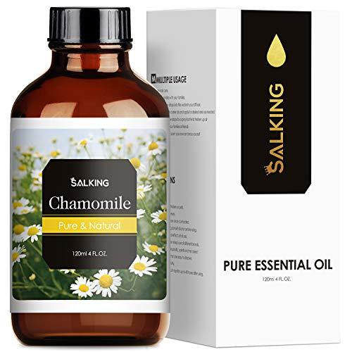 SALKING Aceite Esencial de Manzanilla 120ml,100% Puro Aceites Esenciales para Humidificador,Aceites Esenciales Naturales Aceite Perfumado de Manzanilla, Regalos Originales para Mujer
