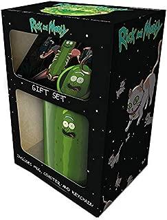 Cartoon Network GP85196 Morty-Pickle Rick Mug, Coaster and Keychain Gift Set, Multi-Color