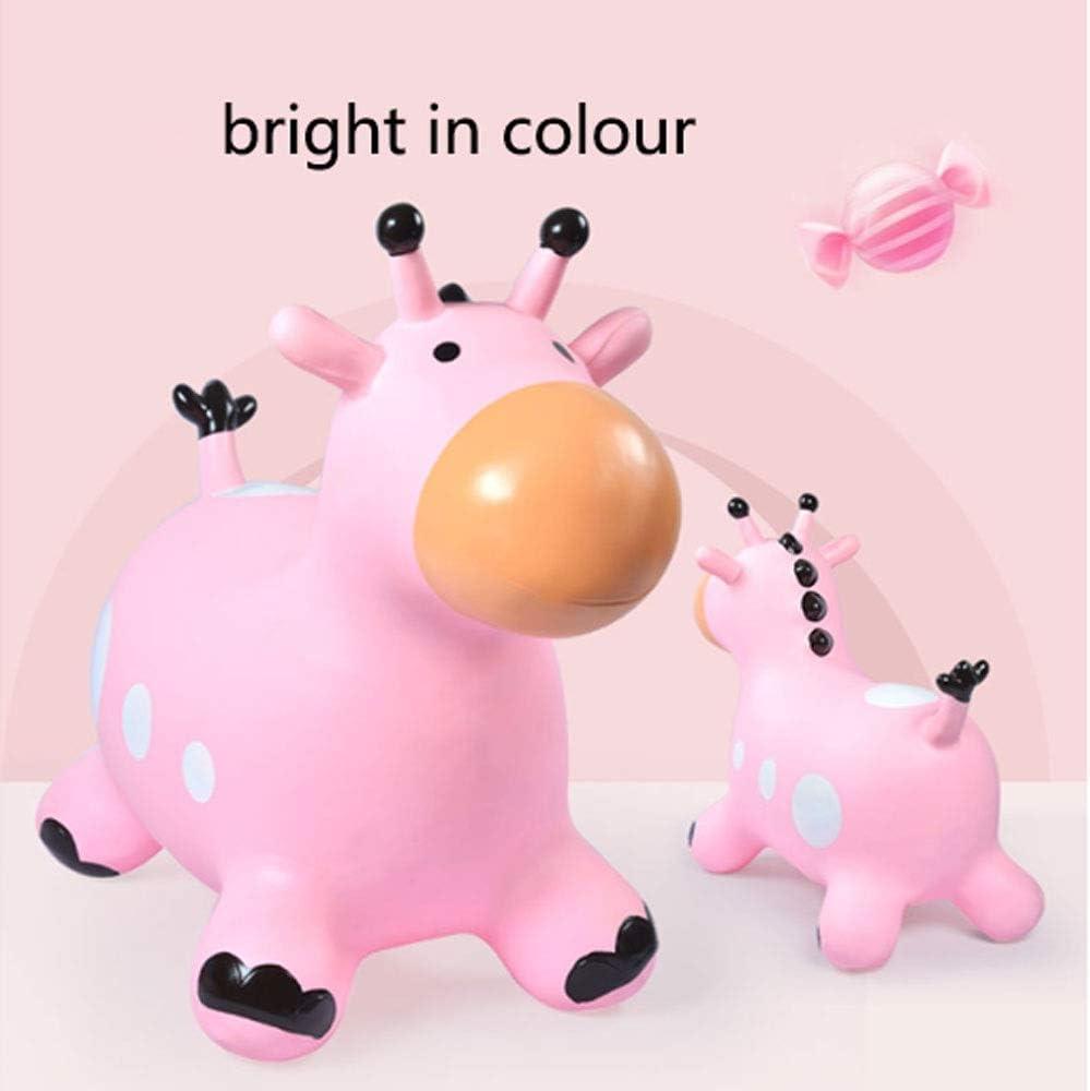 HYY Plastic schommelpaard, baby schommelpaard, geschikt voor kinderen vanaf 2 jaar, rond en comfortabel schommelpaard, grootte: 58x27x51cm, roze/blauw (Kleur: Blauw) roze