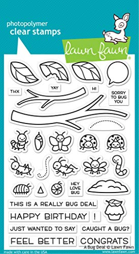 """Lawn Fawn A Bug Deal 4""""x 6"""" Clear Stamp Set (LF2221)"""