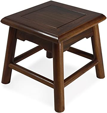 HCJSFD JCRNJSB Sofa stool Wooden bench Solid wood Chinese style low stool Household Shoe bench child Square stool Living room