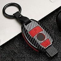 ZHANGXX ファッションABS +シリカゲルカーボンファイバーカーキープロテクトケースカバー。メルセデスベンツABRGクラスGLKGLA W204 W251 W463W176の場合格好良い、保護する