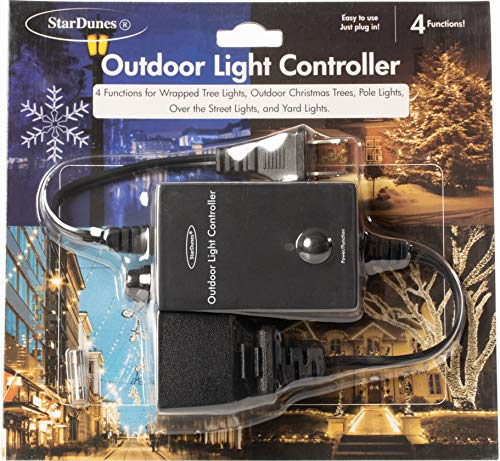 StarDunes Outdoor Light Controller for Wrapped Tree Lights, Outdoor Christmas Trees, Pole Lights, Over The Street Lights, Yard Lights (Commercial Grade)