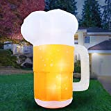 Holidayana Inflatable Beer Mug Decoration - 10ft Saint Patrick's Day Inflatable Includes Built-in...