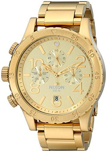 NIXON A486502 - Reloj de Pulsera Adultos Hombre, Acero Inoxidable, Color Oro