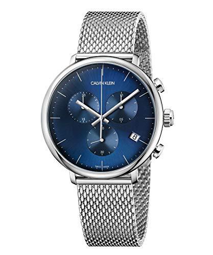 Calvin Klein Orologio Cronografo Quarzo Unisex Adulto con Cinturino in Acciaio Inox K8M2712N