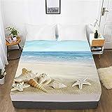 YEHAOFEI Landscape 3D Digitaldruck Serie Bett Cover, Anti-Milbe, Anti-Allergie C-05 150x200x30cm