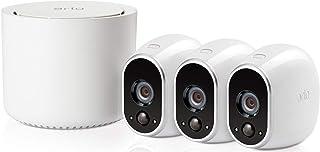 Arlo VMS3330 - Sistema Inteligente de Seguridad y vigilancia con cámaras IP 100% Libres de Cables (3 Unidades Montaje en Interior y Exterior Resistentes al Agua no Sumergible)
