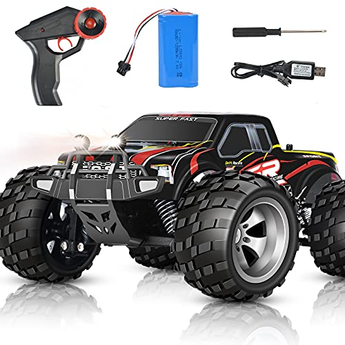 DOUBLE E Remote Control Car 4WD 20 Km/h Off Road RC Cars Monster Trucks High Speed Rechargeable Car Toy for 5 6 7 8 9 10 11 12 Year Boys Girls Kids