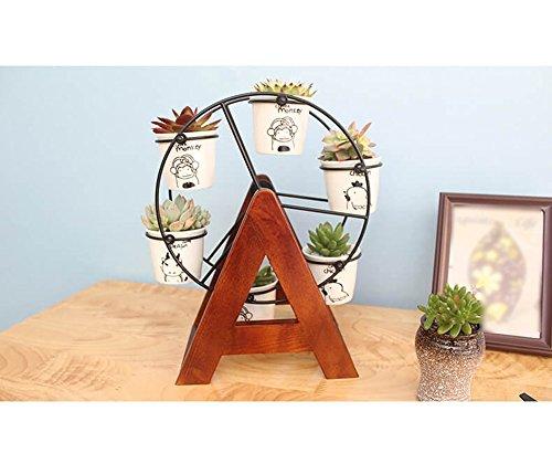 QFF Multi-viande bureau mini-fleur étagère en bois massif bureau petit cadre fleur cadre de fenêtre charbonnière petite plante pochoir étagère