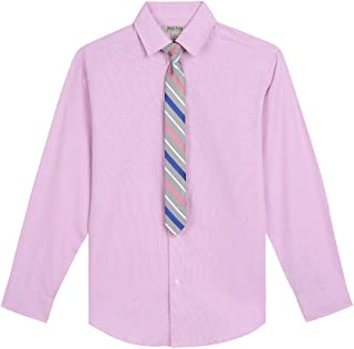 Kenneth Cole Big Boys' Stretch Shirt and Tie Set