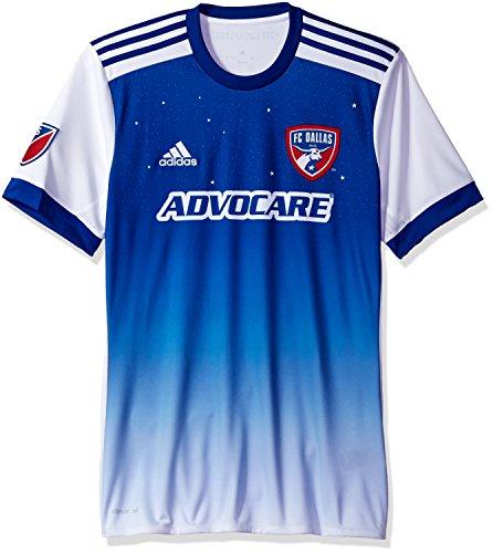 MLS FC Dallas Adult Men Replica Wordmark s/jersey,Medium,White