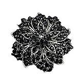 Ezing Fashion Jewelry Beautiful Silver Plated Rhinestone Crystal Brooch Pin For...