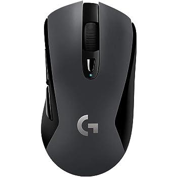 Logitech G603 LIGHTSPEED Mouse Gaming Wireless, Bluetooth o 24GHz con Ricevitore Unifying USB, Sensore HERO, 12000 DPI, Leggero, 6 Pulsanti Programmabili, PC/Mac/Laptop, Imballaggio Tedesco, Nero