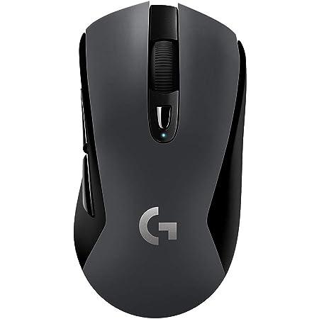 Logitech G603 Mouse Gaming Wireless Lightspeed, Bluetooth o 2.4Ghz con Ricevitore Unifying USB, Sensore Hero, 12000 DPI, Leggero, 6 Pulsanti Programmabili, Pc/Mac/Laptop, Imballaggio Tedesco, Nero