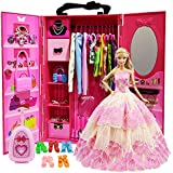 ZITA ELEMENT Doll Closet Wardrobe for 11.5 Inch...