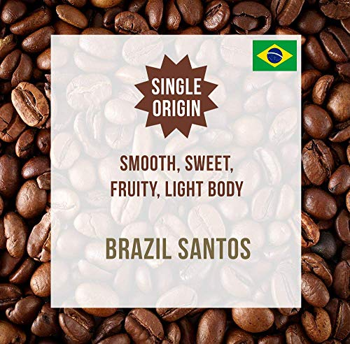 Brazil Santos 1KG - Single Origin Kaffeebohnen - Coffee World