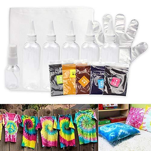 Basisag Batikfarben Set, Ungiftige Stoffkleidung Graffiti-Pigment DIY Craft Tools Partyzubehör Lebendige Tie Dye-Farben Viele Tie Dye-Techniken, Perfekt Machen Sie Ihre Eigene Aktivität Für Mädchen